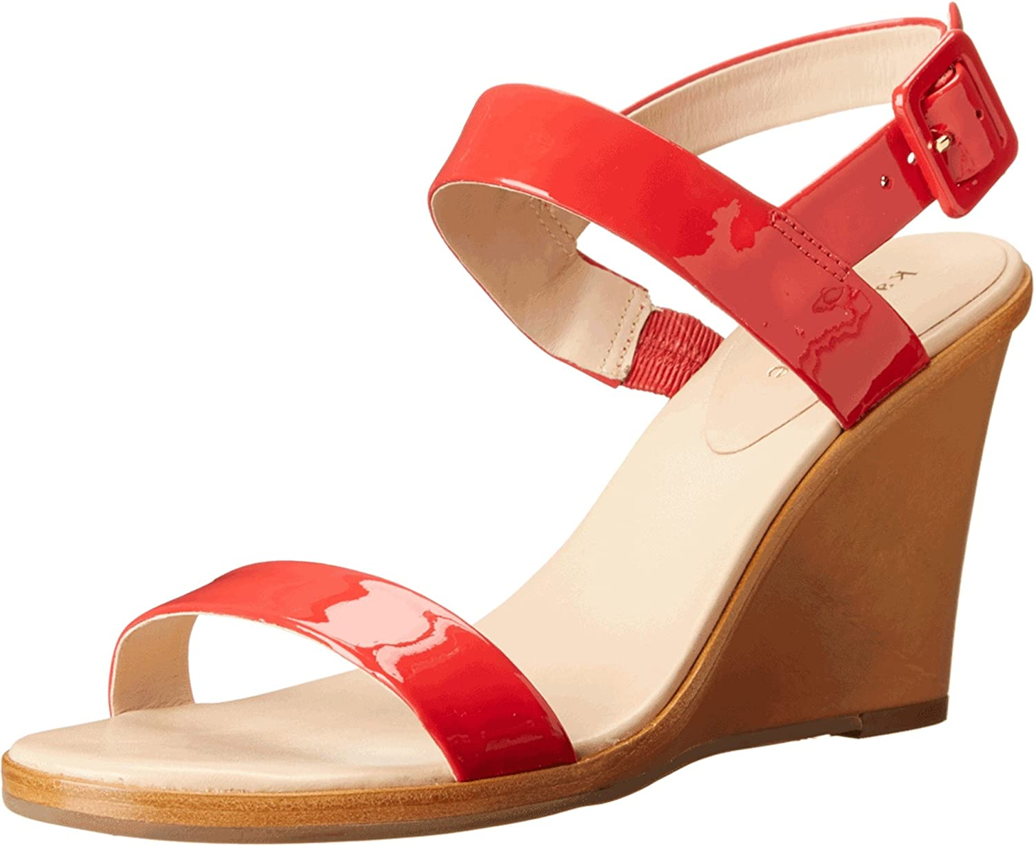 35eed28a5aaf kate spade new york Women s Nice Red Patent Natural Vacchetta Heel Wedge   Buy Online at Low Prices in India - Amazon.in