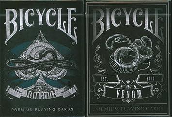 Baraja de 54 cartas - BICYCLE Venom Strike: Amazon.es ...