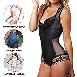 Nebility Women Waist Trainer Bodysuit Double Slim