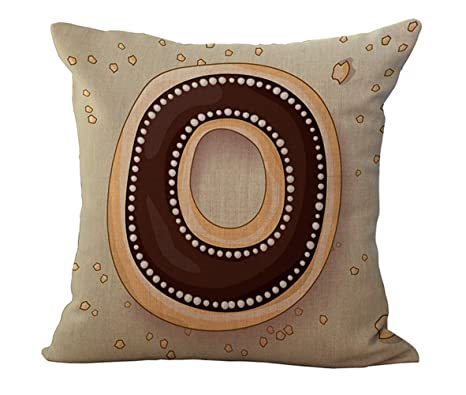 BQ Funda de almohada cojín diseño de letras A a Z ...