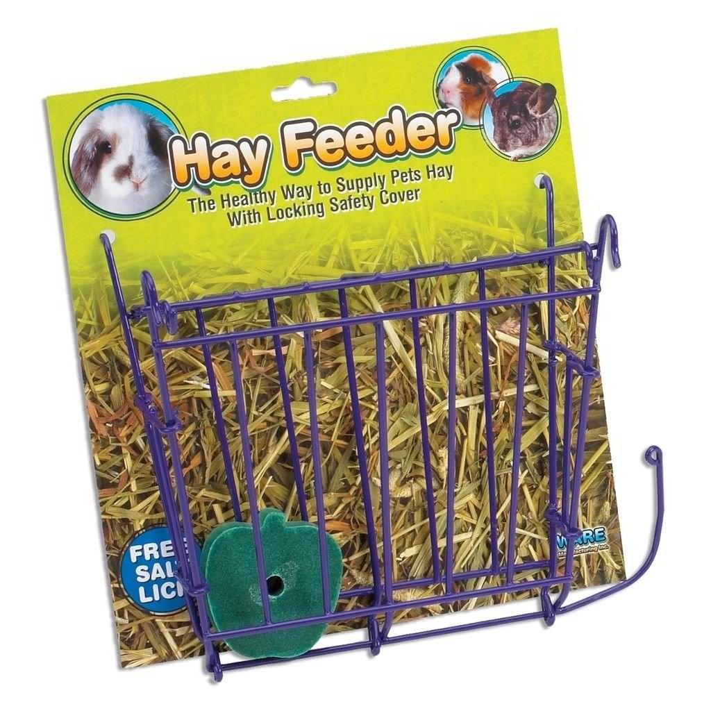 Unbranded* HAY Feeder with Salt Lick & Hanger for Rabbit Guinea Pig Ferret Feed Food Rack by Unbranded*