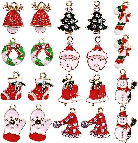 Christmas decoratio snowman sock hat Pendant Necklace Accessories DIY Scrapbook