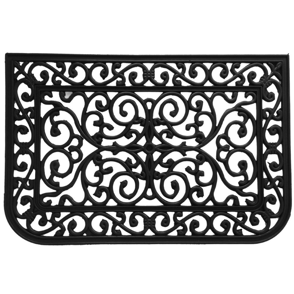 Rubber-CalLiverpool Outdoor Cast Iron Door Mat, 18 by 30-Inch 10-103-504