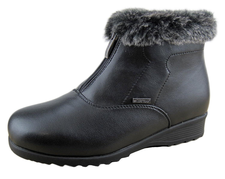 Comfy Moda Women Winter Boots London Anti-slip Ice Gripper Wide Toe Box Waterproof 3M Thinsulate Memory Foam Super Warm Comfy size 12# available