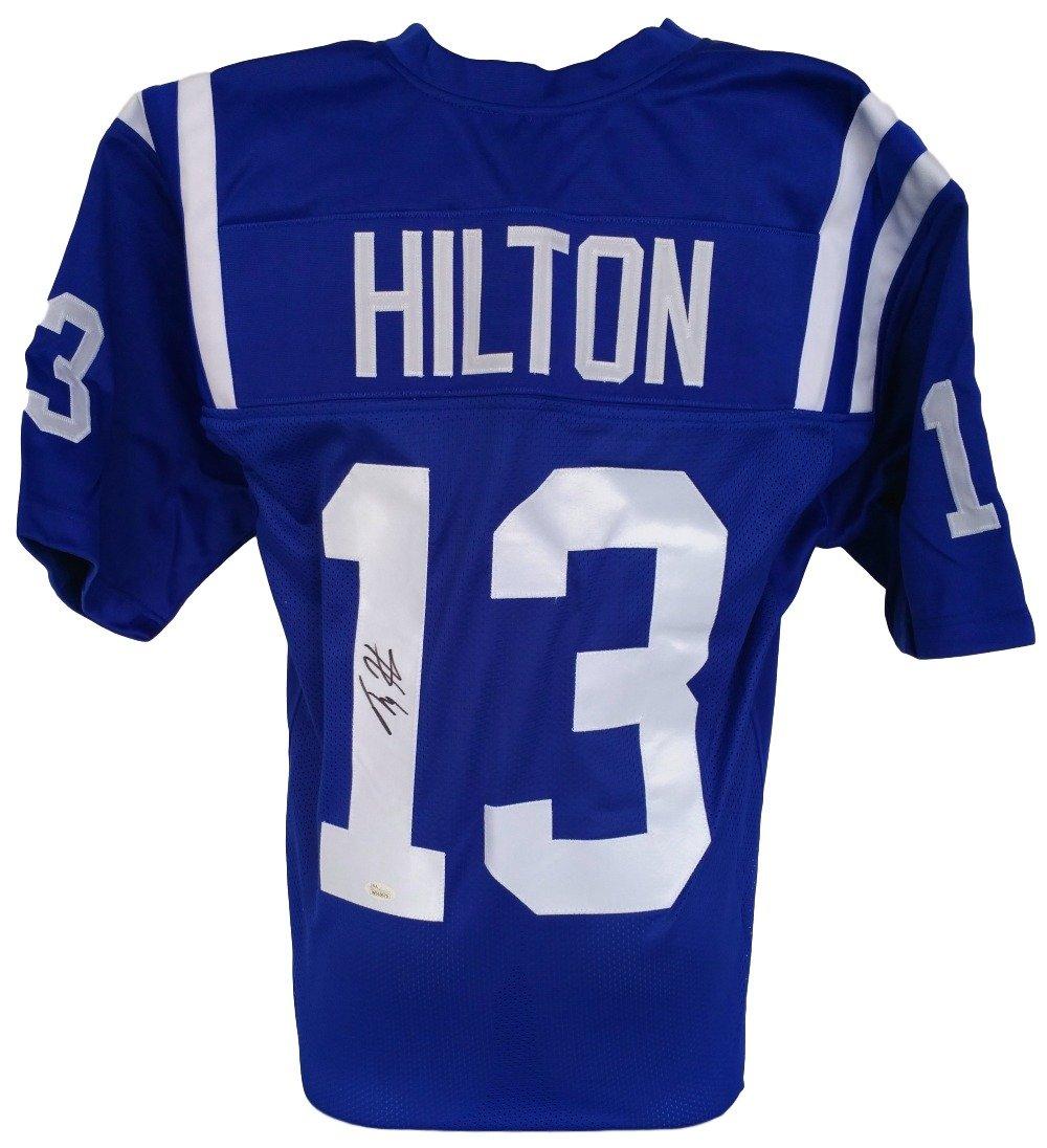 Colts T.Y. Hilton Signed Custom Pro-style Blue Jersey JSA