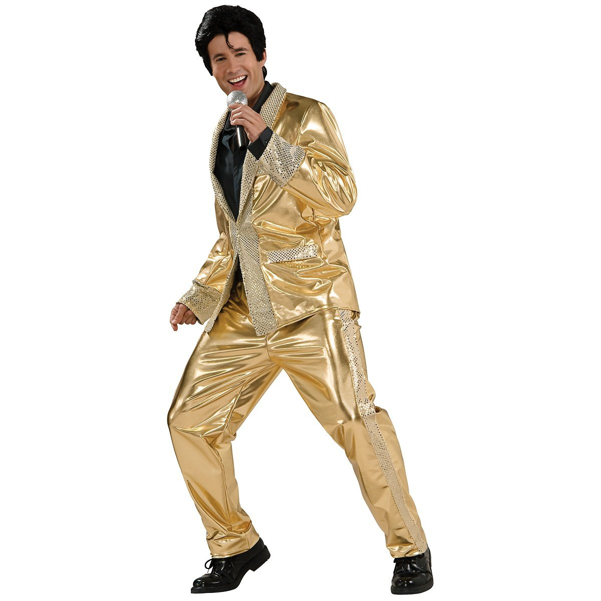Deluxe Elvis Gold Lame Suit Adult Costume - X-Large