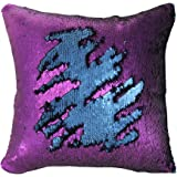 "Mermaid Pillow Case, Play Tailor Magic Reversible Sequin Pillow Cover Throw Cushion Case 16""X16"""