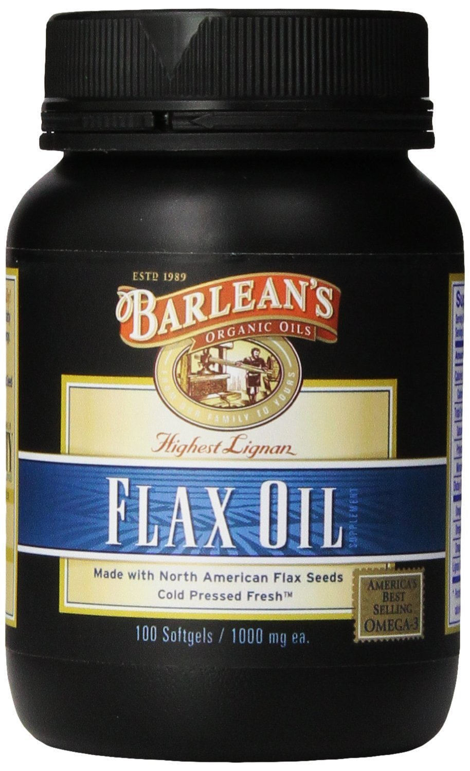 3 PACK: Lignan Flax Oil - Softgels - 100 ct.
