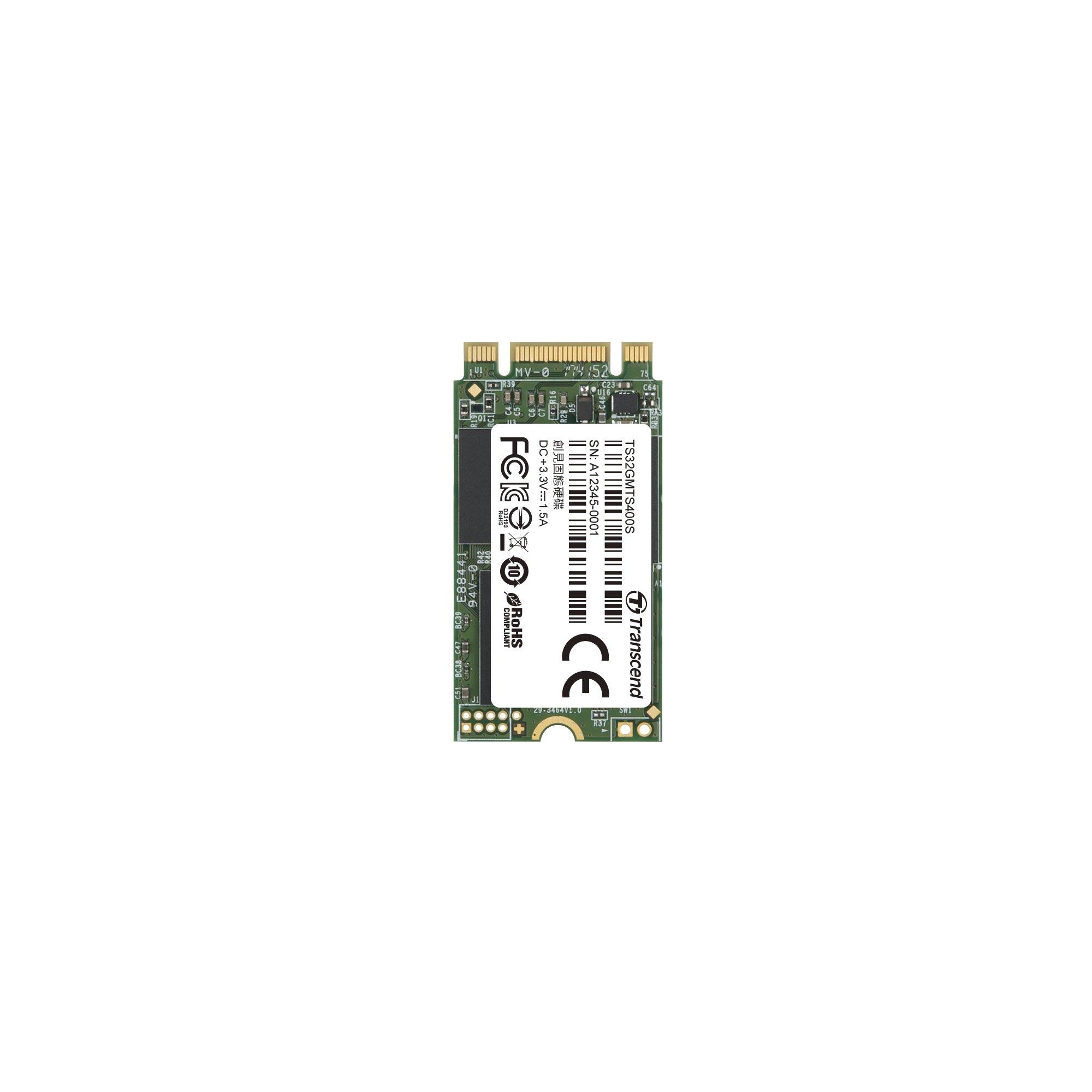 Transcend 32GB SATA III 6Gb/s MTS400 42 mm M.2 SSD Solid State Drive (TS32GMTS400S)