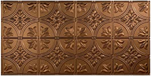 Fasade Easy Installation Traditional 2 Oil-Rubbed Bronze Glue Up Ceiling Tile / Ceiling Panel (2' x 4' Panel)