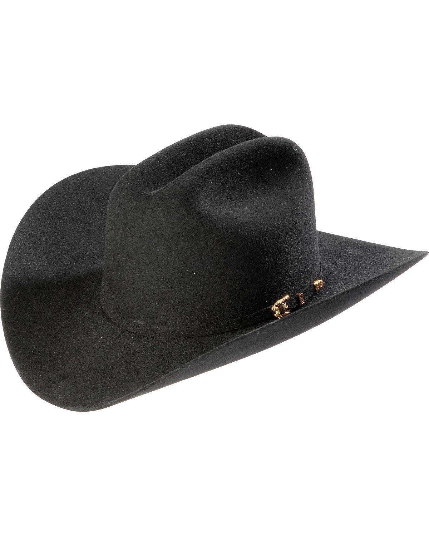 Larry Mahan Los Tigres Del Norte Men's 8X Cowboy Hat Black 7 1/2
