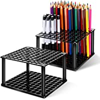 2 Sets 96 Hole Pencil Brush Holder Acrylic Pen Holder Desk Stand Organizer for Pencils Paint Brushes Markers Display and…