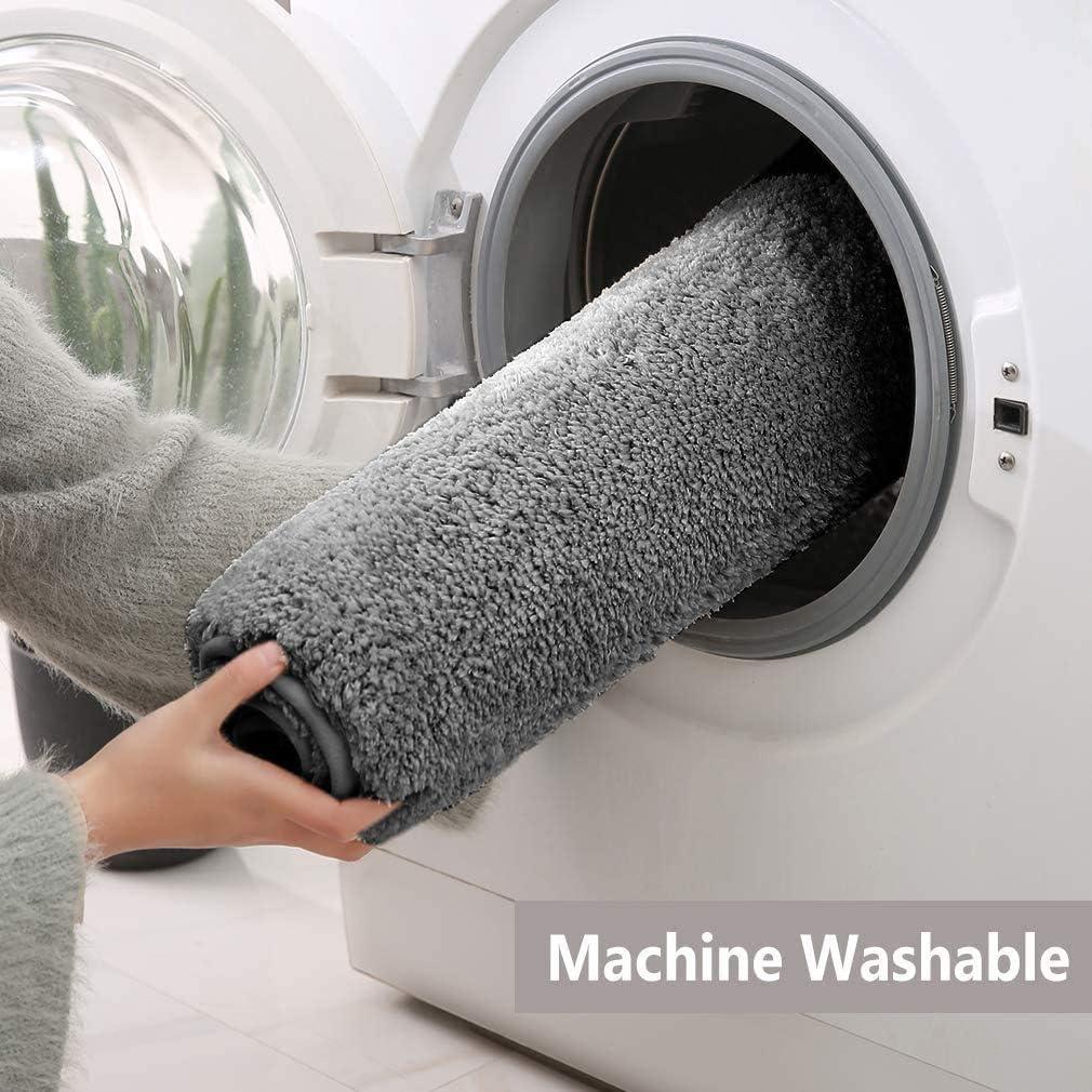 Alfombra de ba/ño de lujo de microfibra antideslizante con dise/ño s/úper suave f/ácil de limpiar secado r/ápido absorbente lavable a m/áquina para adultos mayores y ni/ños para ba/ñera y ducha