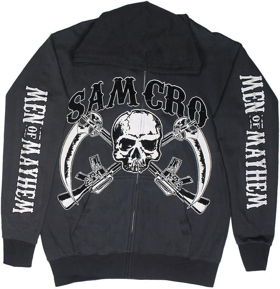 Sons Of Anarchy Samcro Mens Zip Up Hoodie Black
