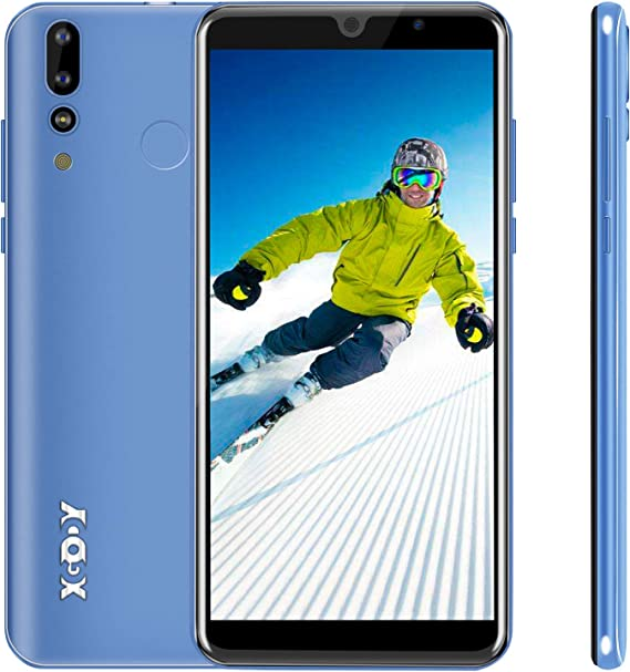 Xgody 6 Inch Android 9.0 Cellphone Unlocked Dual Camera 2G RAM Unlocked Smartphone 16GB Celulares Desbloqueados 2G/3G Network for T-Mobile/AT&T/MetroPCS (Blue)