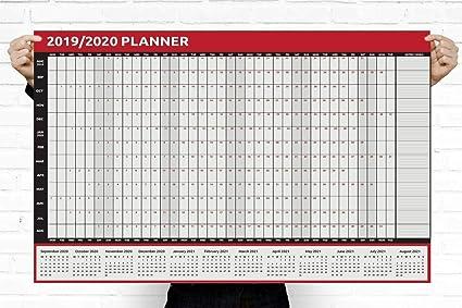 Calendario 2019 2020, tamaño A2, tamaño A1, planificador de ...