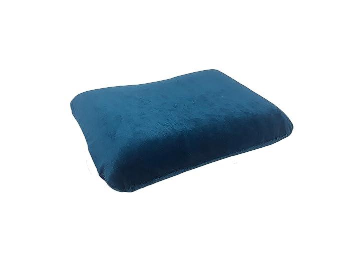 Sharper Image Rate #1 Memory Foam Travel Pillow Blue