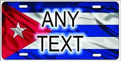 Bandera de Cuba – Placa de Licencia para Auto o Mini placa de ...