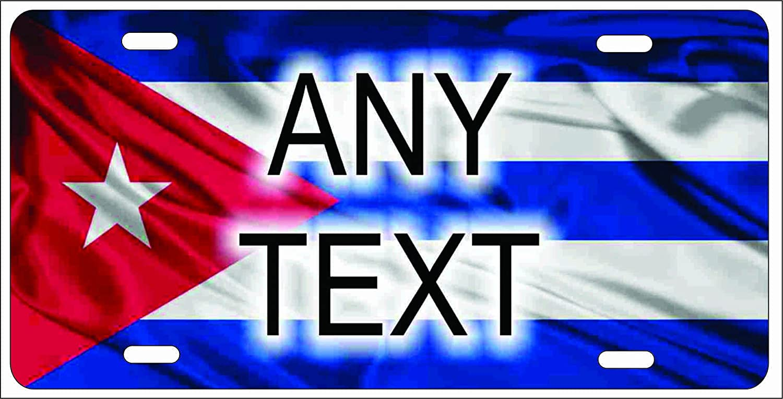 Bandera de Cuba - Placa de Licencia para Auto o Mini placa ...