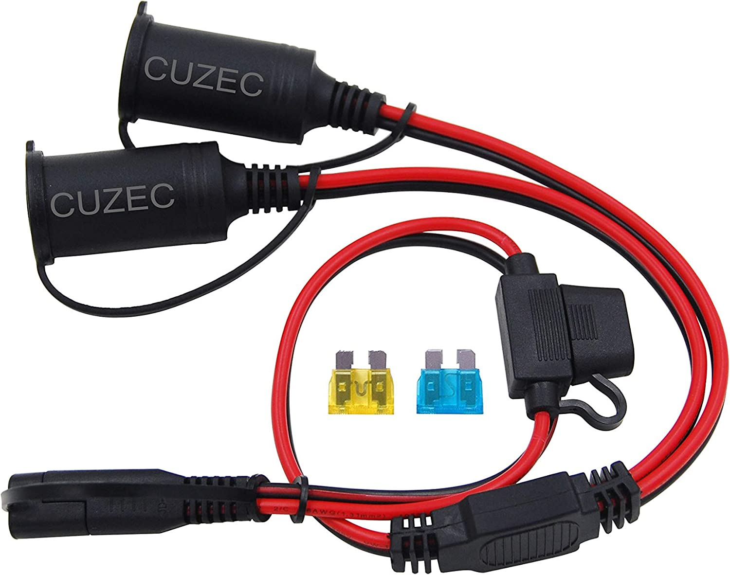 CUZEC 2-Way Splitter SAE Connector,1 to 2 SAE Connector Power Charger Adapter
