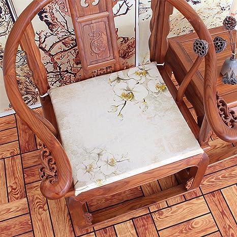 Amazon.com: Almohadilla para silla china con diseño de loto ...