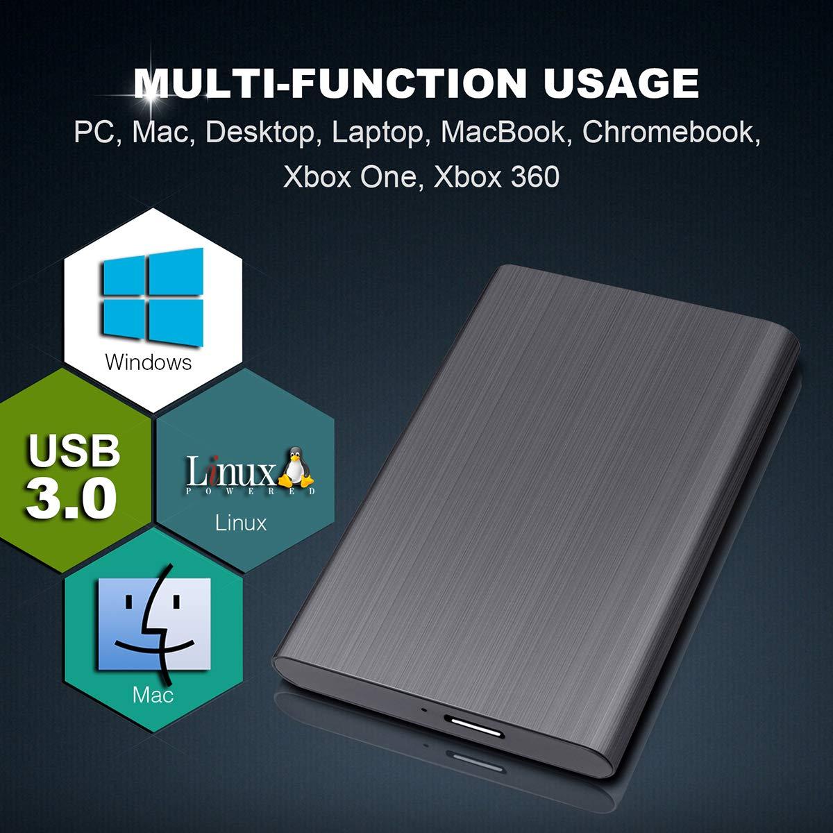 Xbox 2tb, Negro PS4,MacBook Chromebook Maidix Disco Duro Externo 2tb USB 3.0 Disco Duro Externo para Mac PC