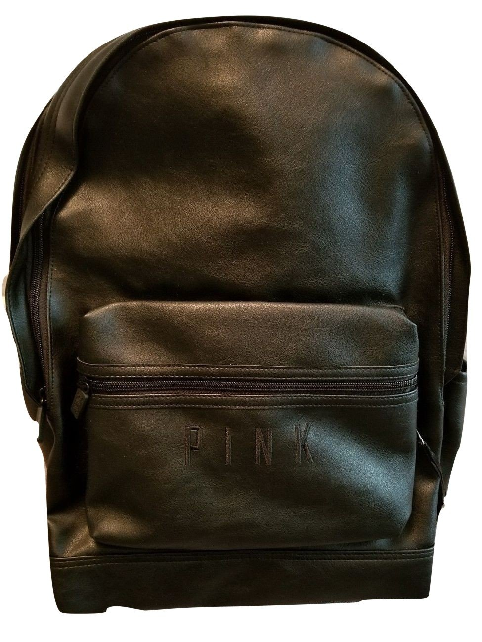 Victorias Secret PINK Campus Backpack Faux Leather Black New 2017 Travel Gym VS by VS Pink