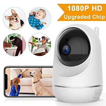 VIDEN Cámara IP WiFi 1080P, Cámara de Vigilancia WiFi Interior Seguridad para casa con Visión Nocturna, Detección de Movimiento Remoto, Alarma de ...