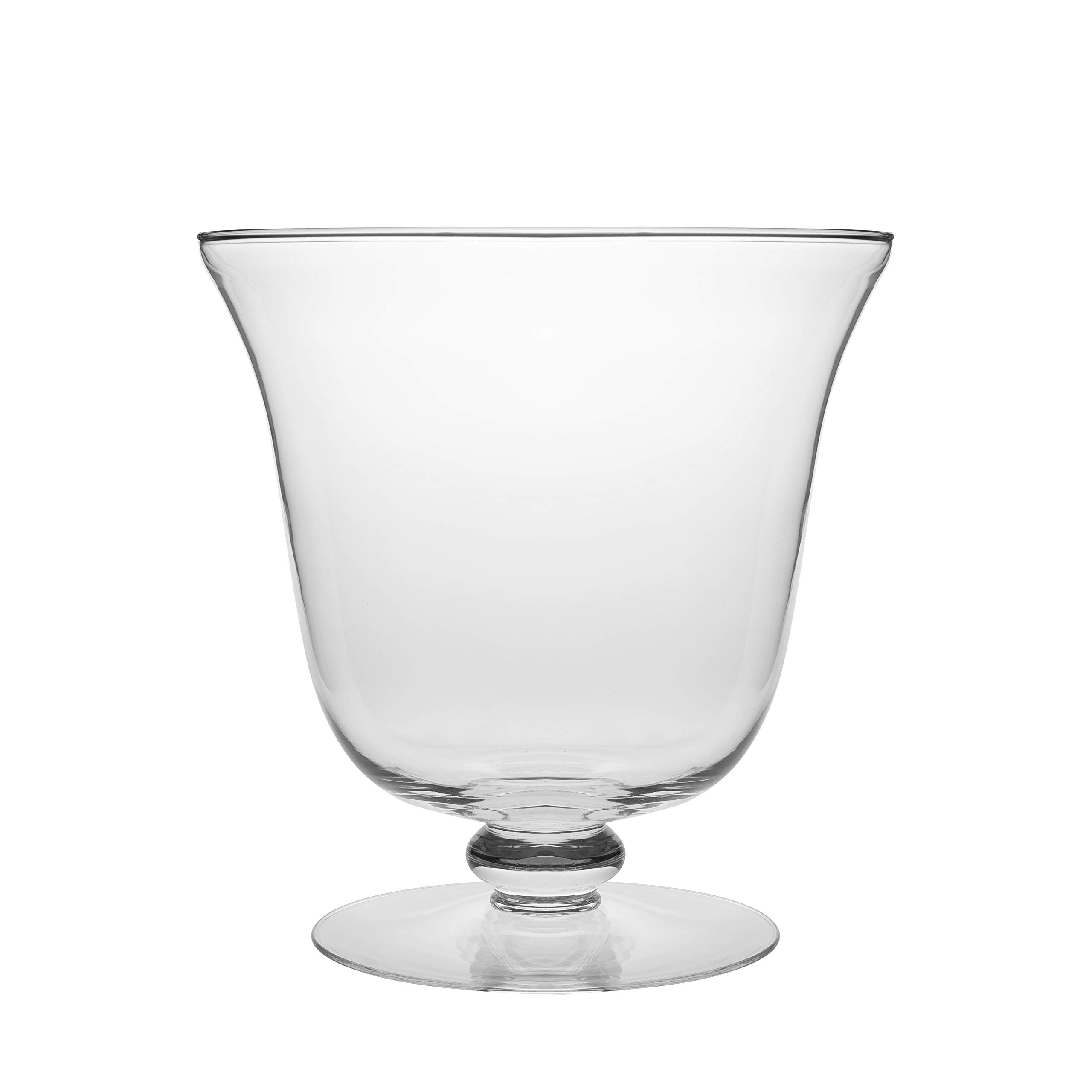 Barski - European Quality - Handmade Thick Glass - Footed - Centerpiece Bowl - Fruit Bowl - Punch Bowl - 210 oz. - 10.25'' Diameter - Made in Europe by Barski