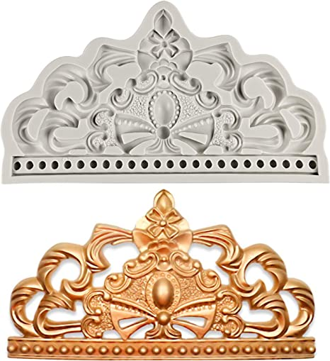 Baroque Crown Silicone Mold Wedding Cake Topper Fondant Cake Decorating Tools