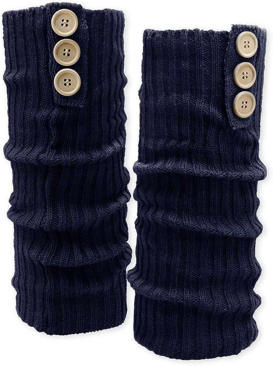 beige oder schwarz Soul-Cats/® Bein Stulpen mit Kn/öpfen Beinw/ärmer blau