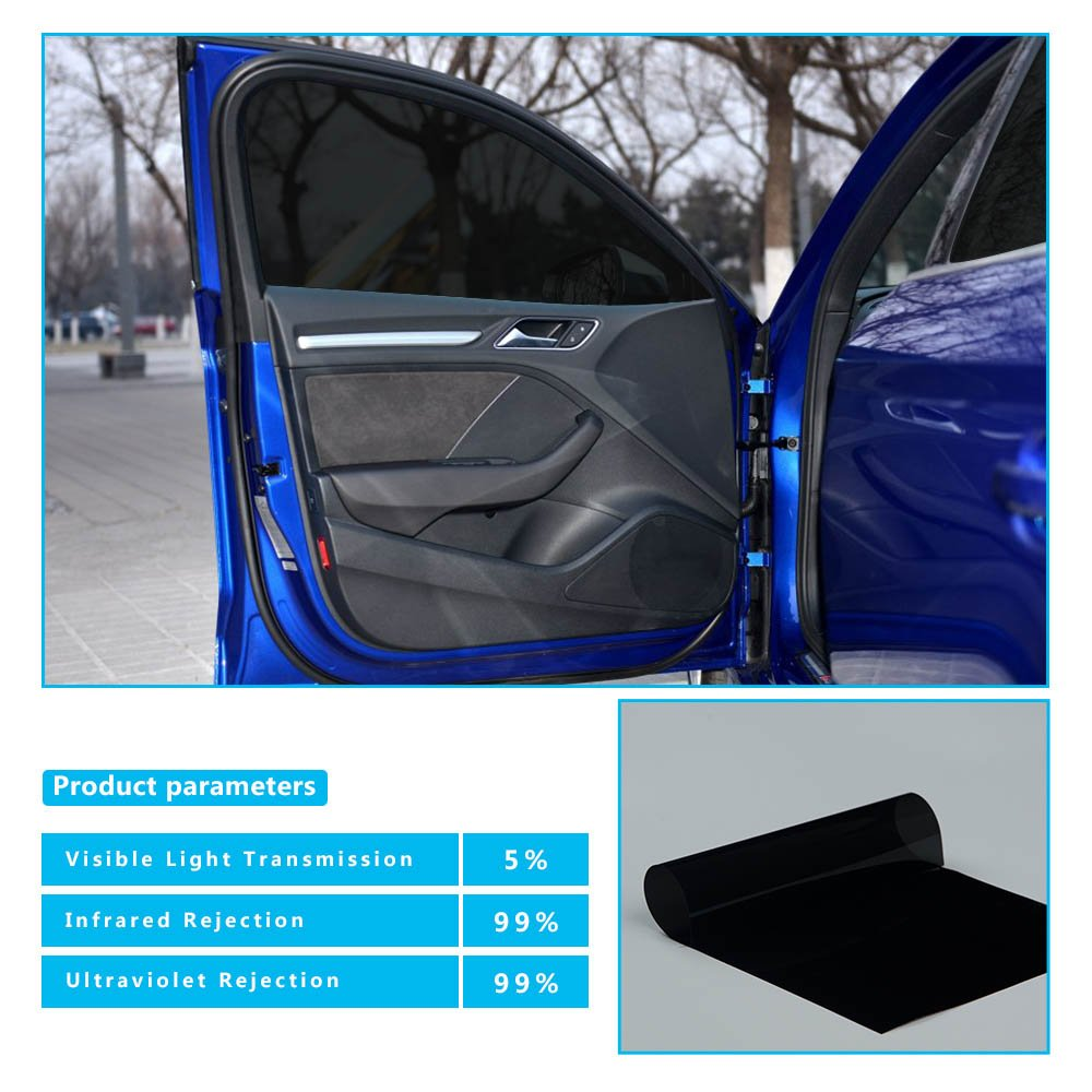 HOHO VLT 35/% Nano Ceramic Auto Car Solar Film Window Tint Privacy Glass UV Proof,100cmx300cm