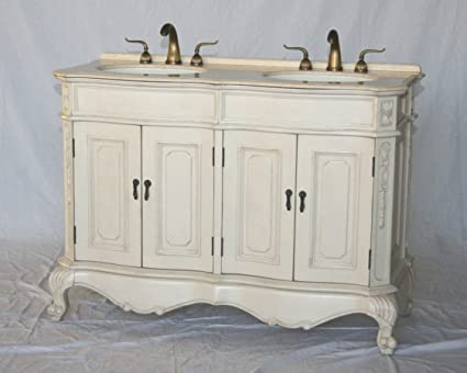 Amazoncom 50 Inch Antique Style Double Sink Bathroom Vanity Model