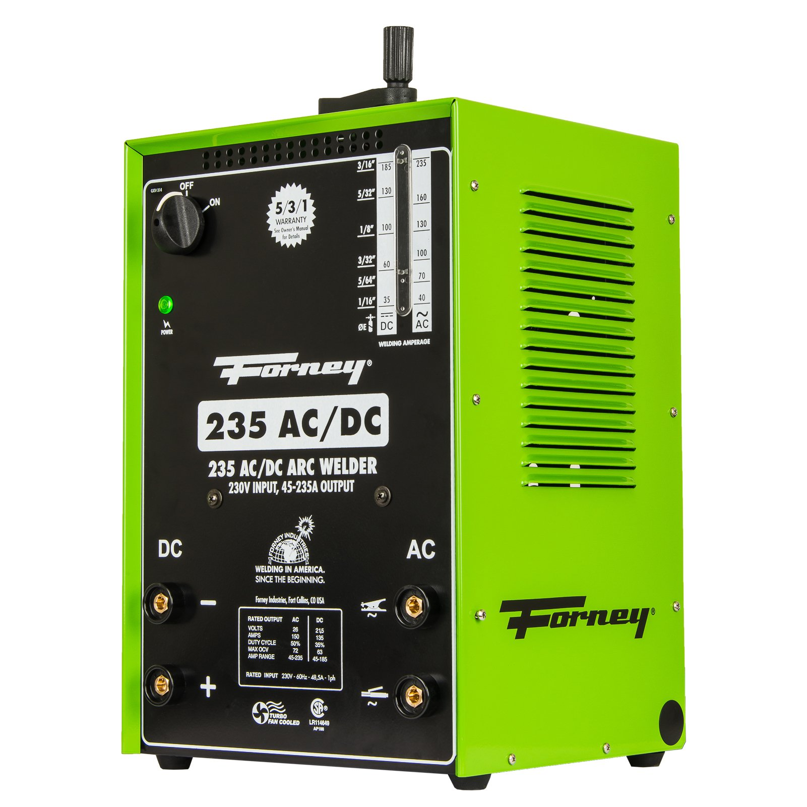 Forney 314 Arc Welder 235FI AC DC, 230-Volt, 230-Amp by Forney (Image #4)