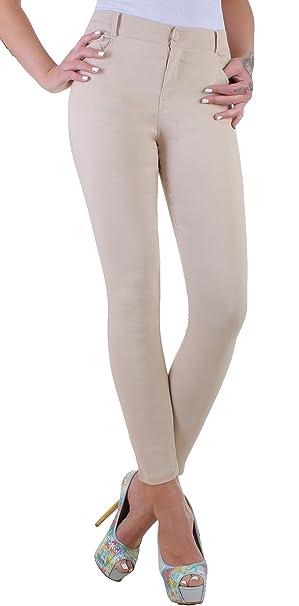 BD High Waist Damen Hose Stretch Jeggings Röhrenhose in