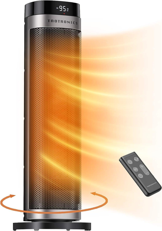 1500W Fast Heating Ceramic Tower Fan Heater
