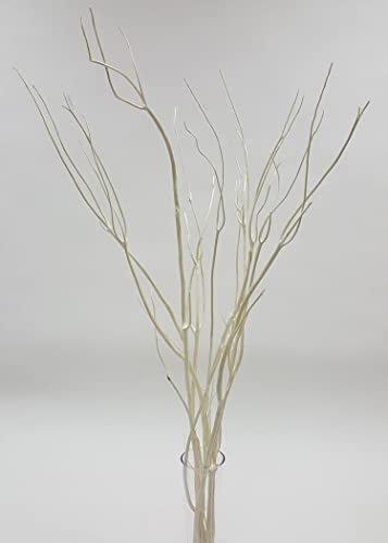 Green Floral Crafts – 3-4Ft Tall Mitsumata 50 White Branches Hanging Crystal Centerpiece Kit Vase Not Included