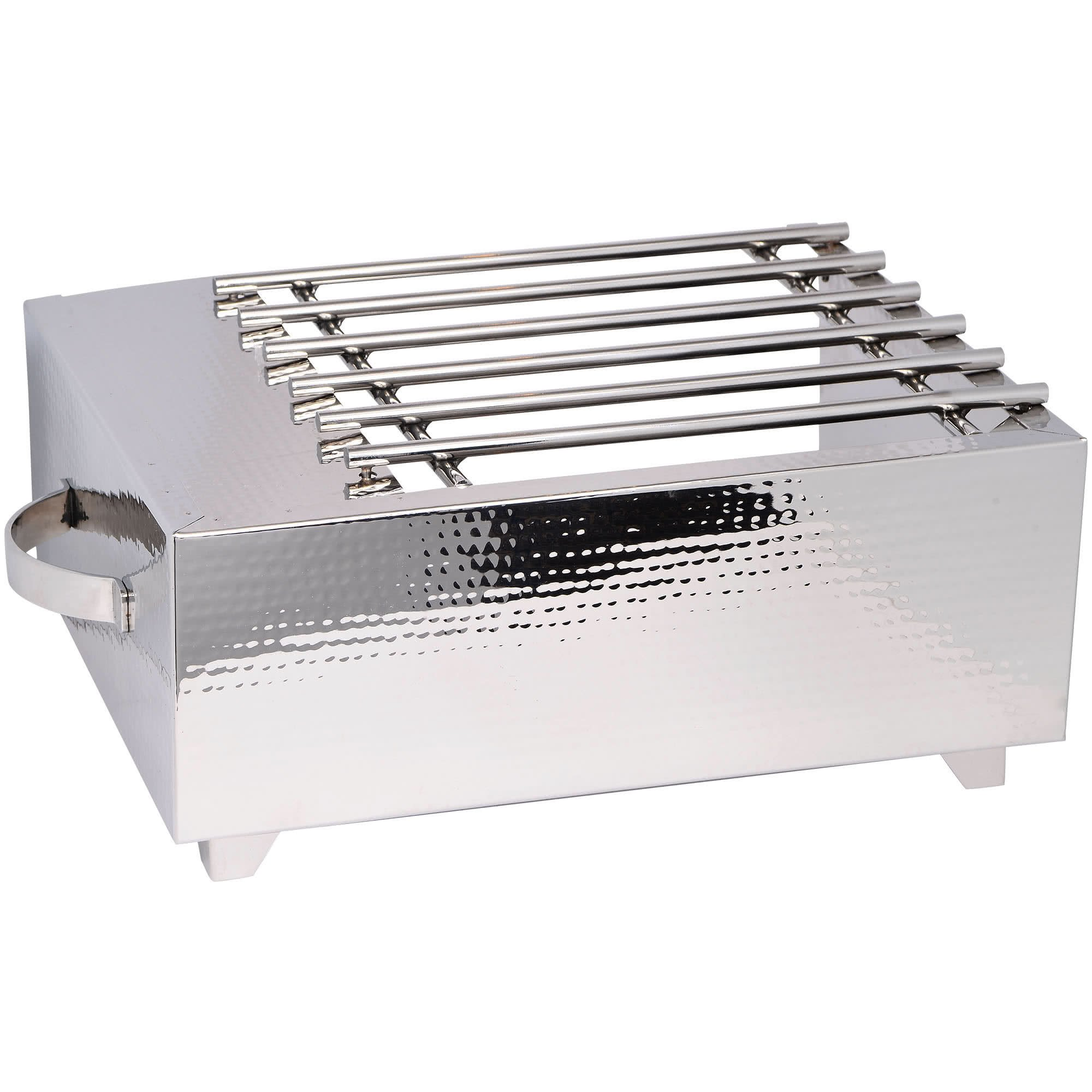 TableTop king 3264HG Hammered Stainless Steel Single Butane Stove Cover-Up by TableTop King