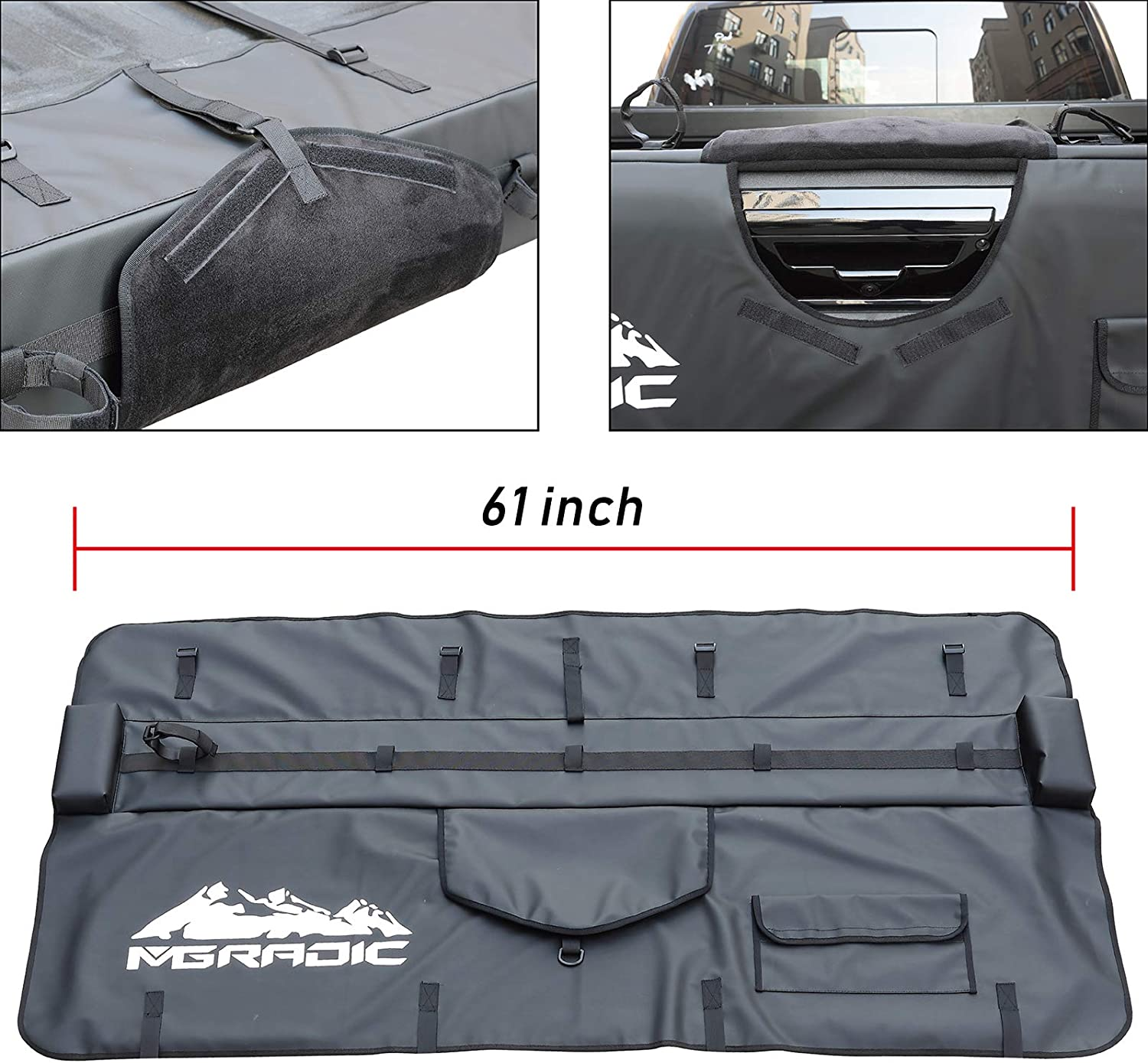Large 61 Truck Tailgate Pad Shuttle Pad 5 Bikes for Middle /& Large Pickup Truck