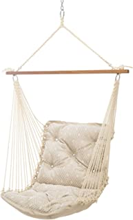 product image for Hatteras Hammocks Integrated Pewter Sunbrella Tufted Single Swing, 350 LB Weight Capacity, Handcrafted in The USA, Perfect for Indoor or Outdoor Use