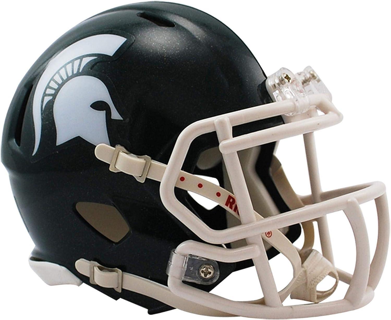 Mini Michigan Leather Football Helmet