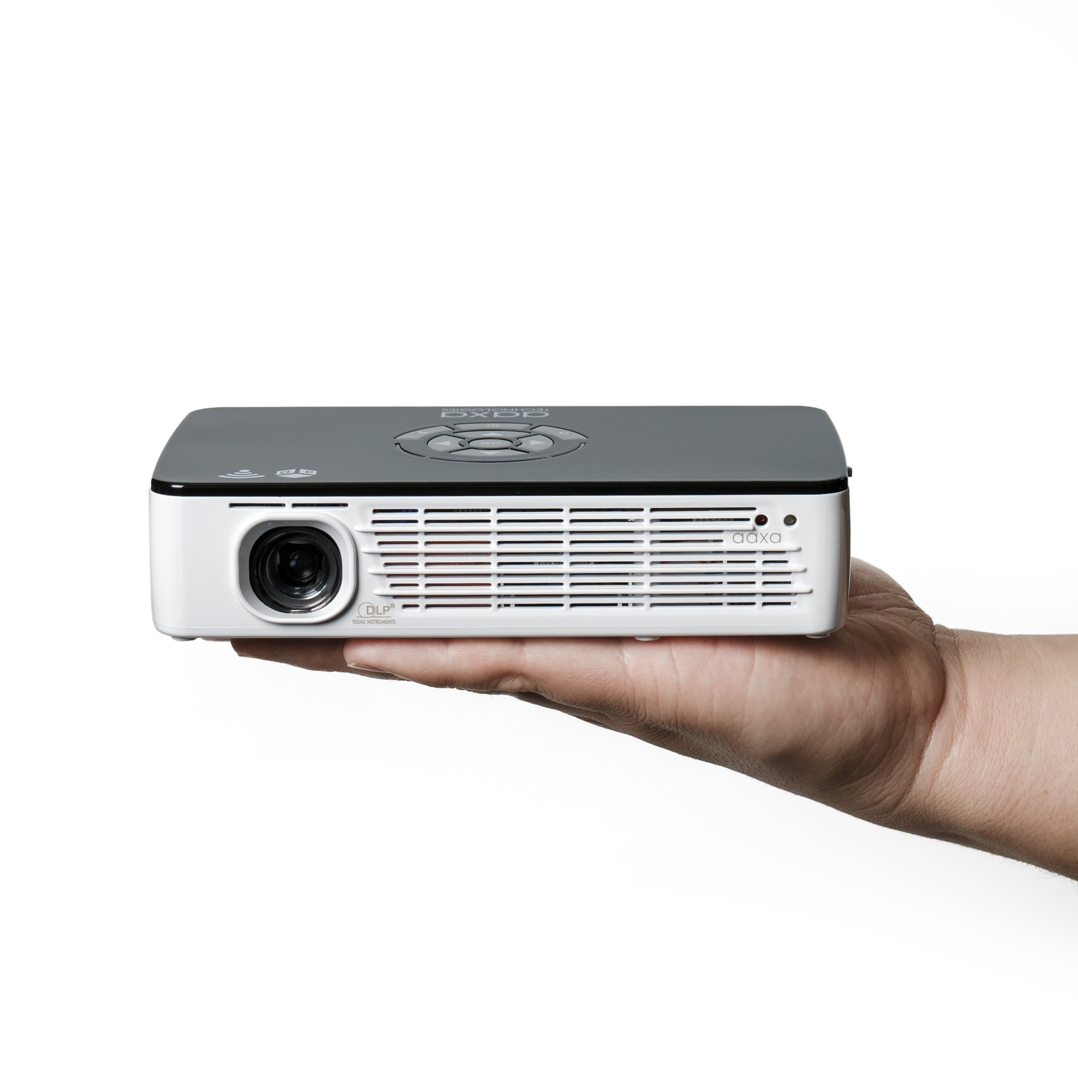 AAXA P700 Pro Pico Projector with 70 Minute Battery, 650 Lumens, Android OS, WXGA Native HD Resolution, Office Viewer, Wi-Fi/Bluetooth/3D Onboard, Video Streaming
