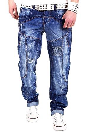 7f5e881d471b Kosmo Lupo Pocket Jeans Blau KM2588  Amazon.de  Bekleidung