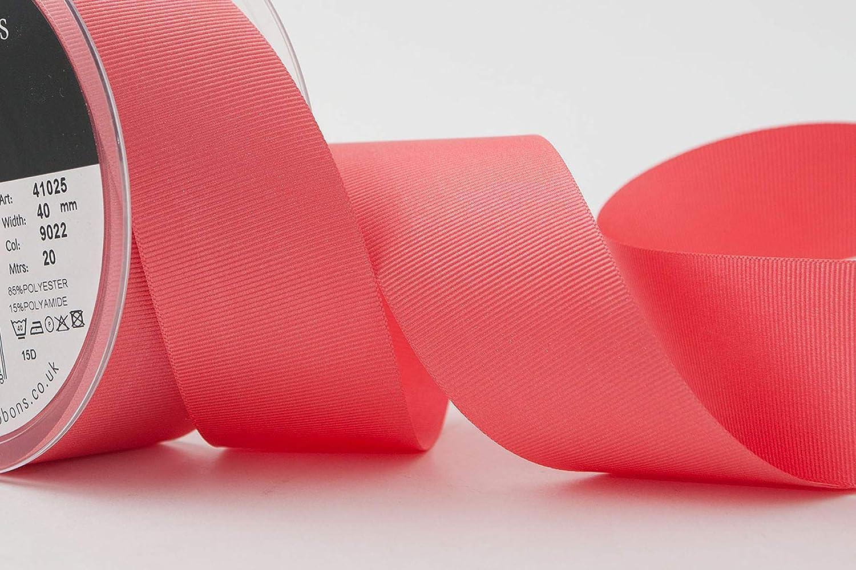 Berisfords Cinta de grogr/én 41025 de poli/éster de 20/m x 10/mm Color Rojo