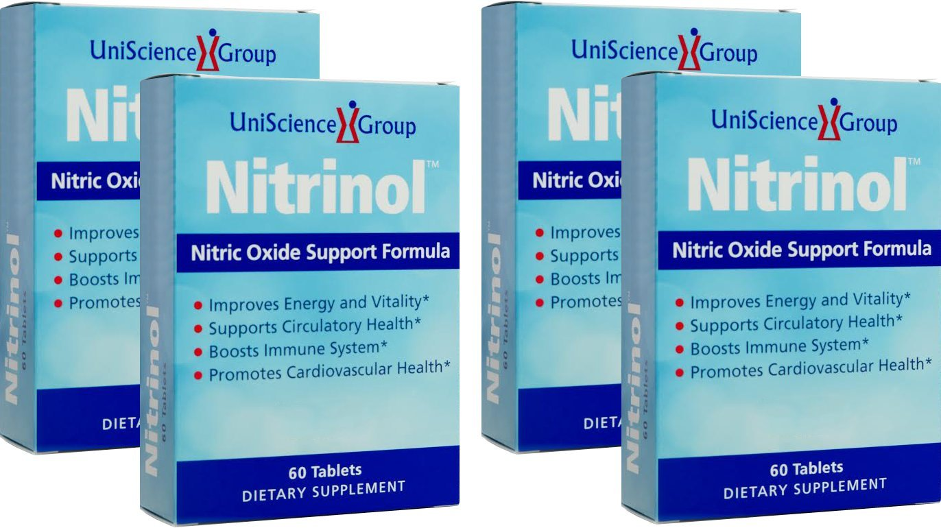 Nitrinol, Natural Nitric Oxide Booster with Beetroot Extract, 60 Tablets per box, 4 Box Deal