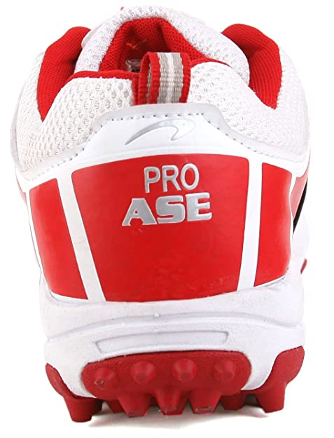 a964bb2c1cf8 PRO ASE White Red Cricket Shoe  Buy Online at Low Prices in India -  Amazon.in