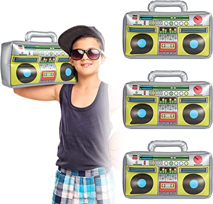 Large Inflatable Boom Box Stereo 80's Accessory