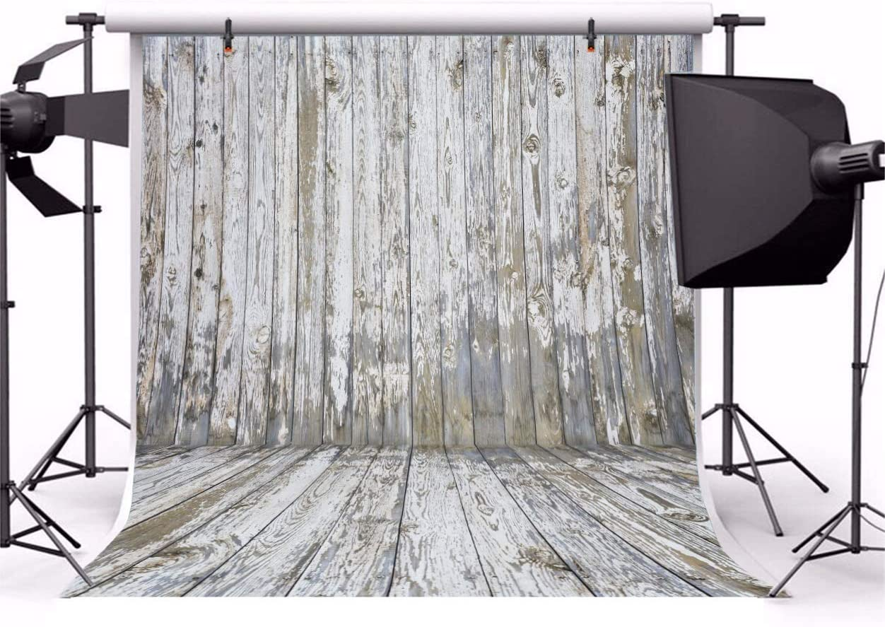 GoHeBe Old Wooden Wall Floor Backdrop 10x10ft Photography Background Natural Wood Texture Background Weathered Rustic Style Wedding Parties Art Portraits