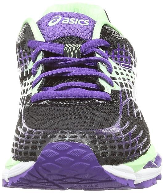 Asics Gel-Nimbus 17, Damen Laufschuhe Training, Schwarz (Onyx/Purple/Mint 9935), EU 38
