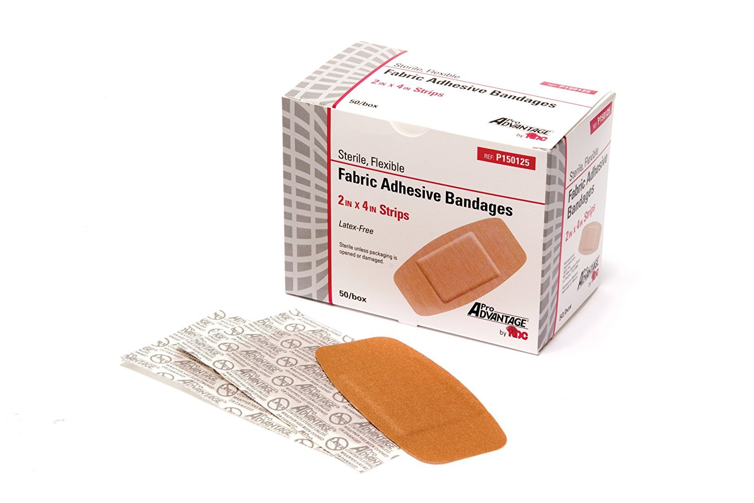ProAdvantage P150125 Flexible Large Adhesive Bandages 2'' x 4'' (Pack of 50)